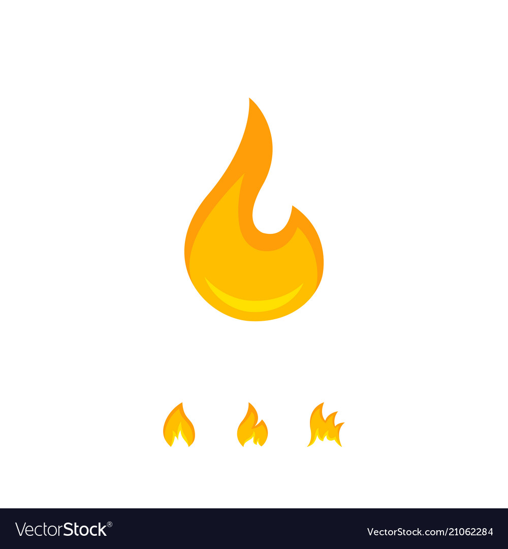 Warm graphic icon of burning flame