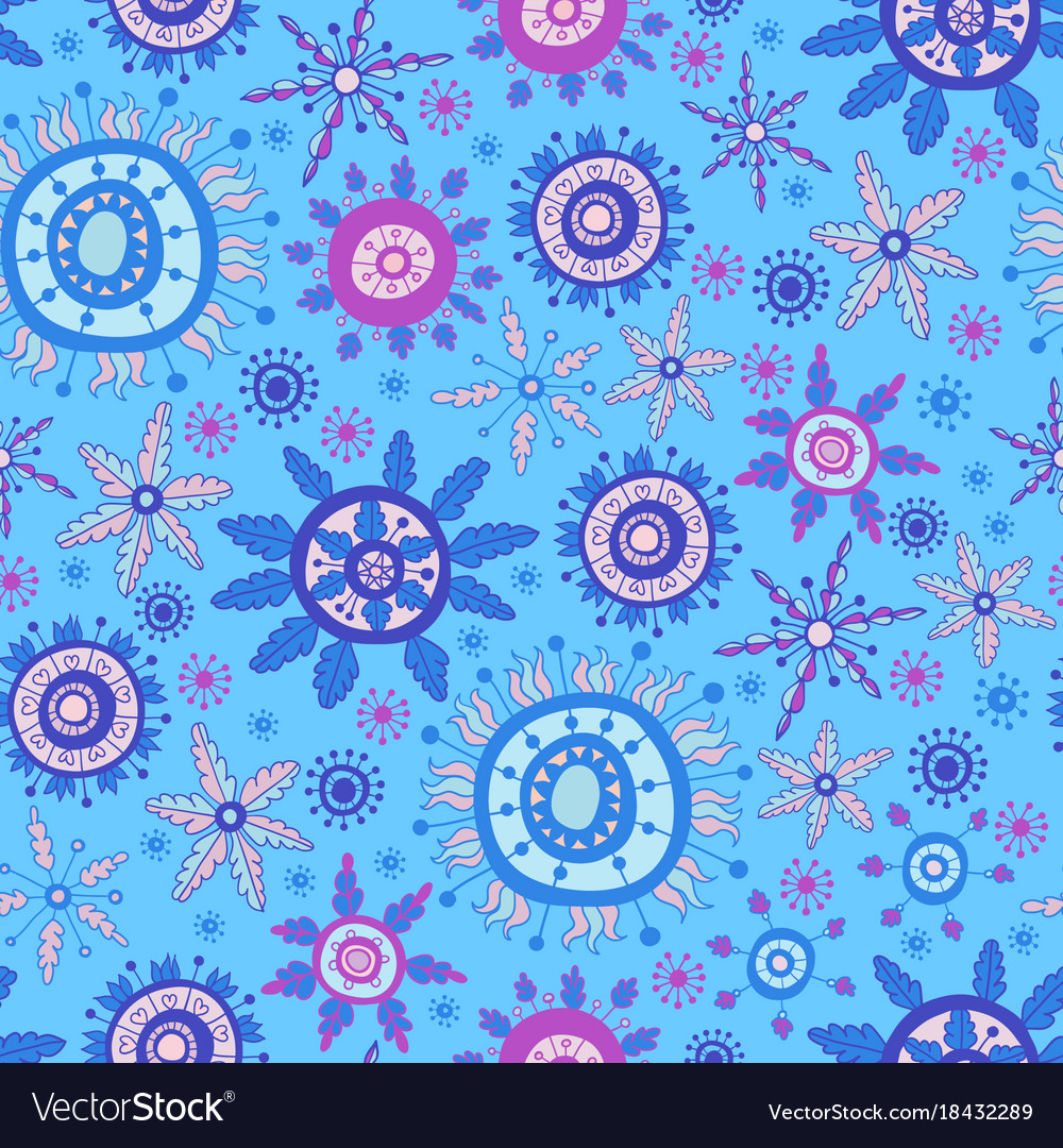 Bright christmas snowflakes pattern