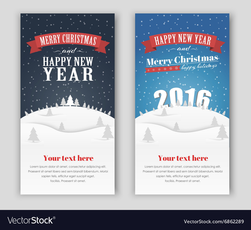 Design banner Merry Christmas and Happy New Yea