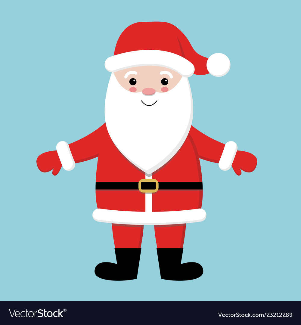 Merry christmas santa claus wearing red hat
