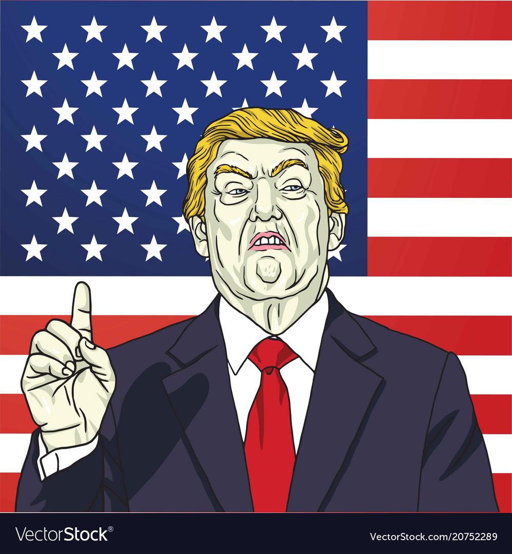 Portrait of donald trump the 45th president