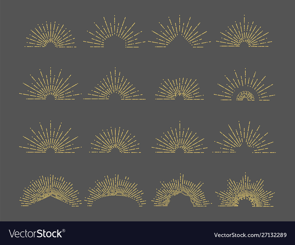 Sunburst emblem line radial rays