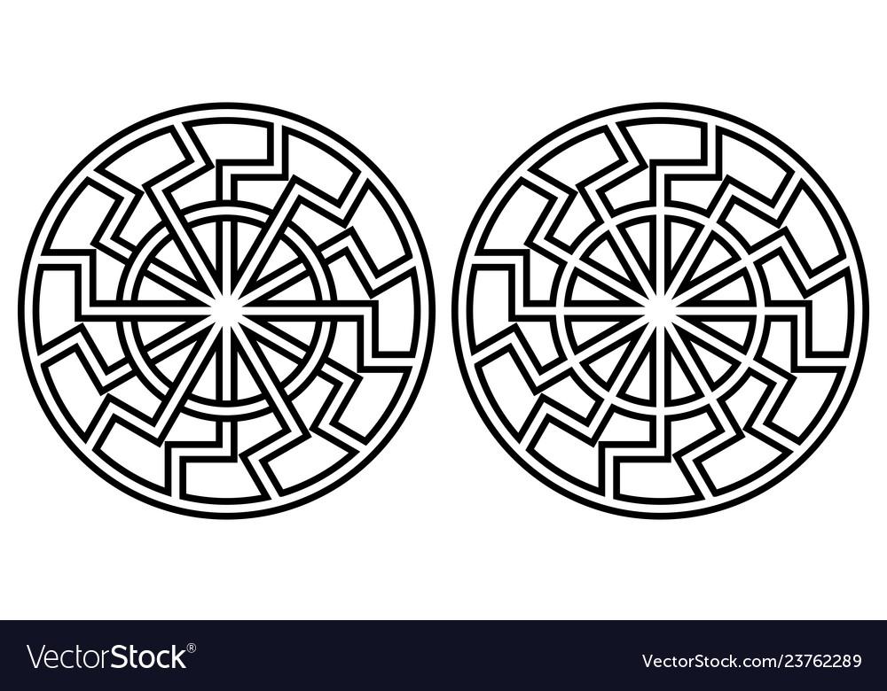 Symbol pagan sun sign curves rays sun icon