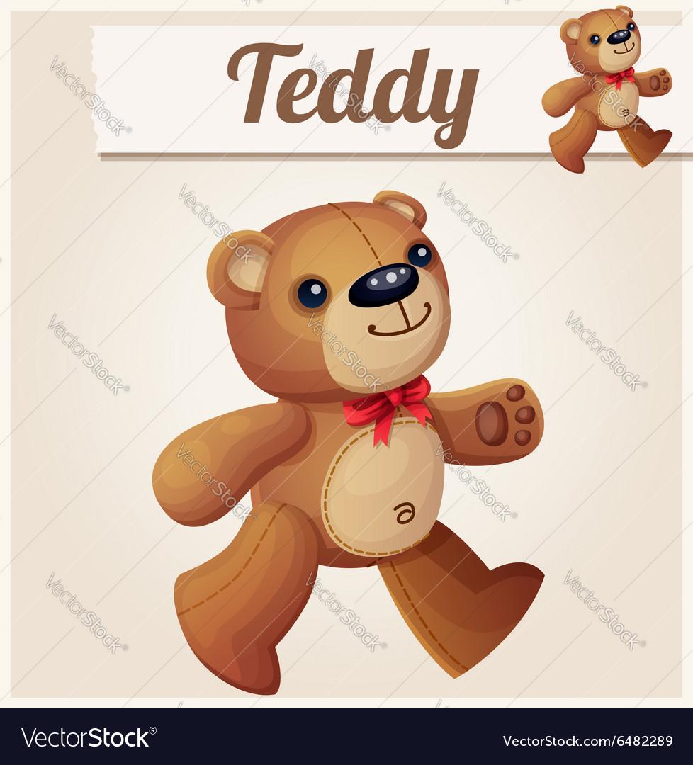 Teddy bear walks Cartoon