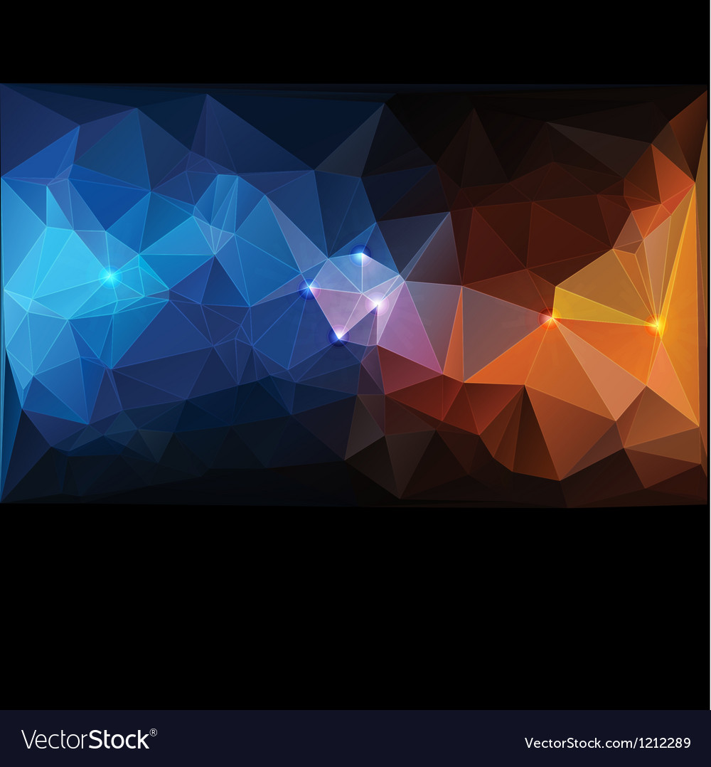 Triangle concept design Mosaic vector image