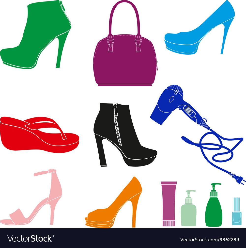 Women Accessories Set vector image