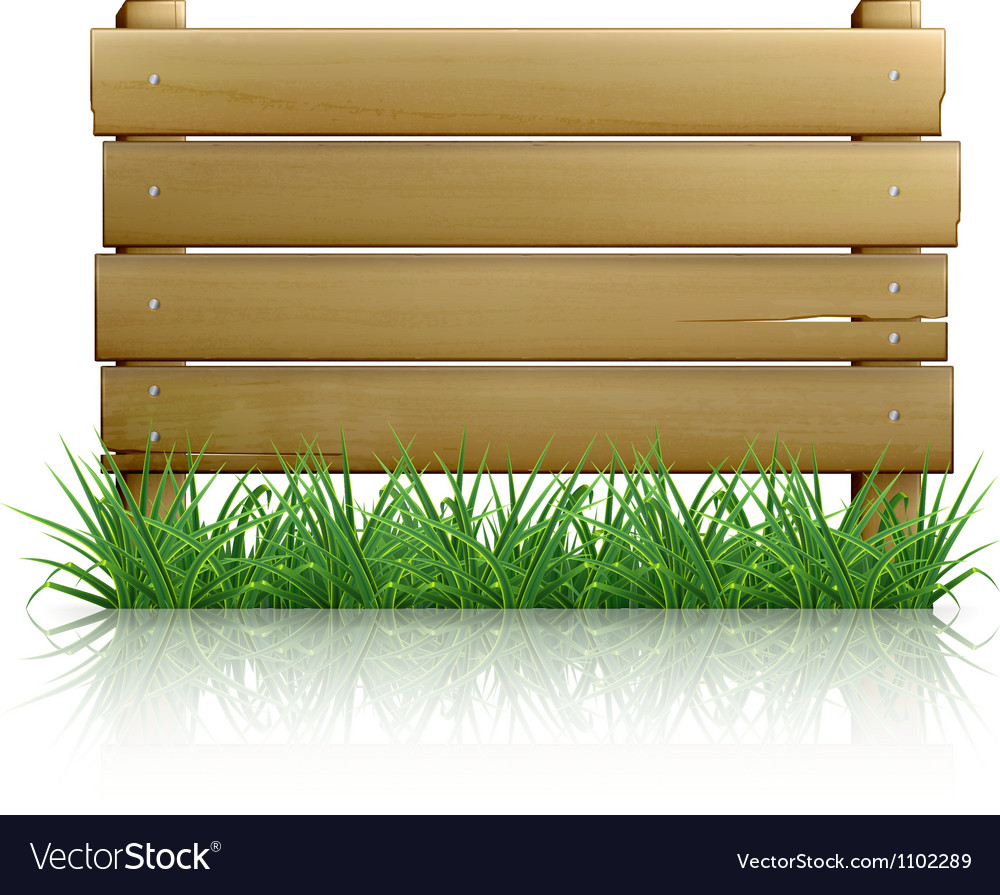 Wooden message board vector image