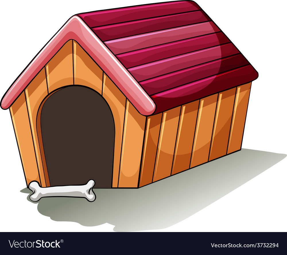 A Wooden Doghouse Royalty Free Vector Image Vectorstock