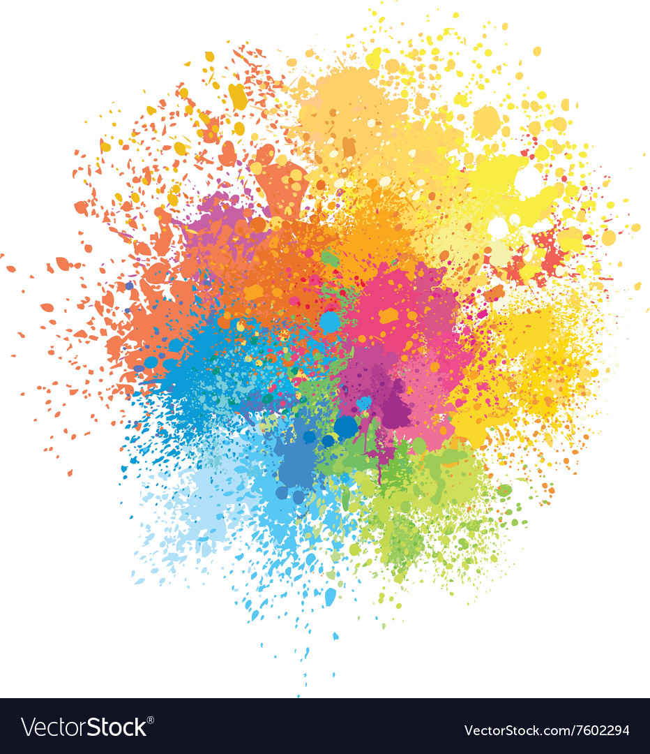 Color background of paint splashes Royalty Free Vector Image