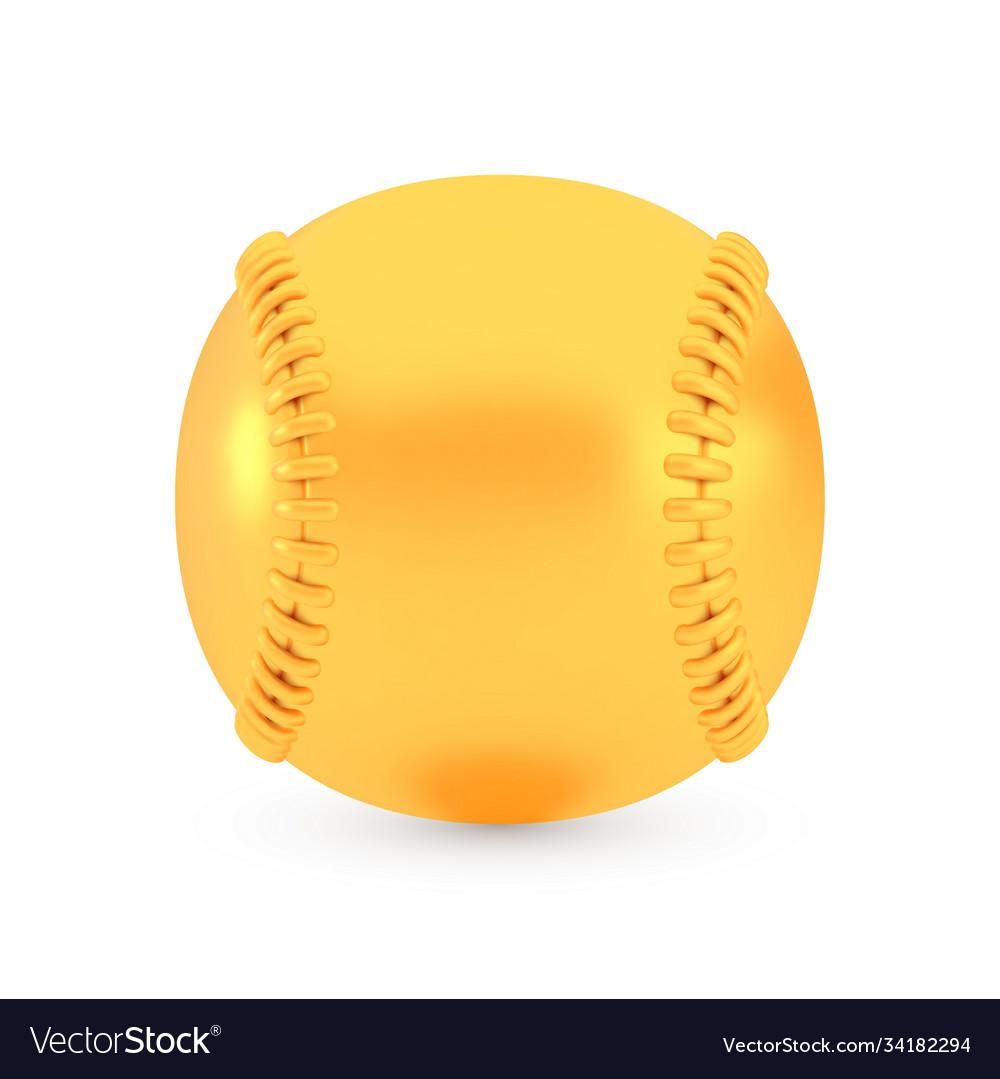 Golden baseball award concept shiny realistic