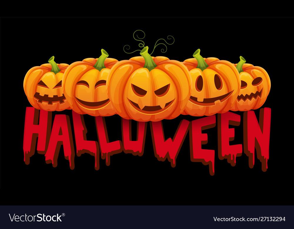 Halloween banner halloween pumpkin with