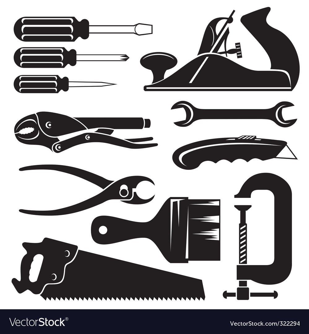 Woodworking Tools Silhouette Www Topsimages Com