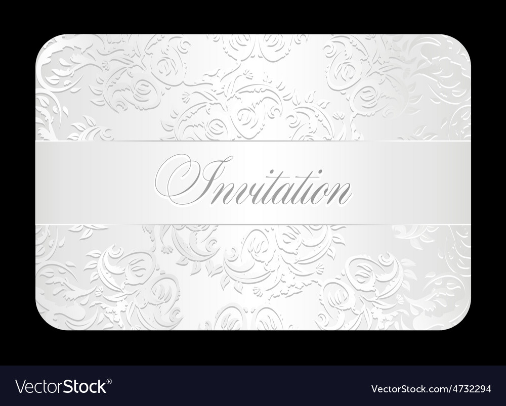 Luxury white wedding invitation with rounded lace vector image stopboris Images