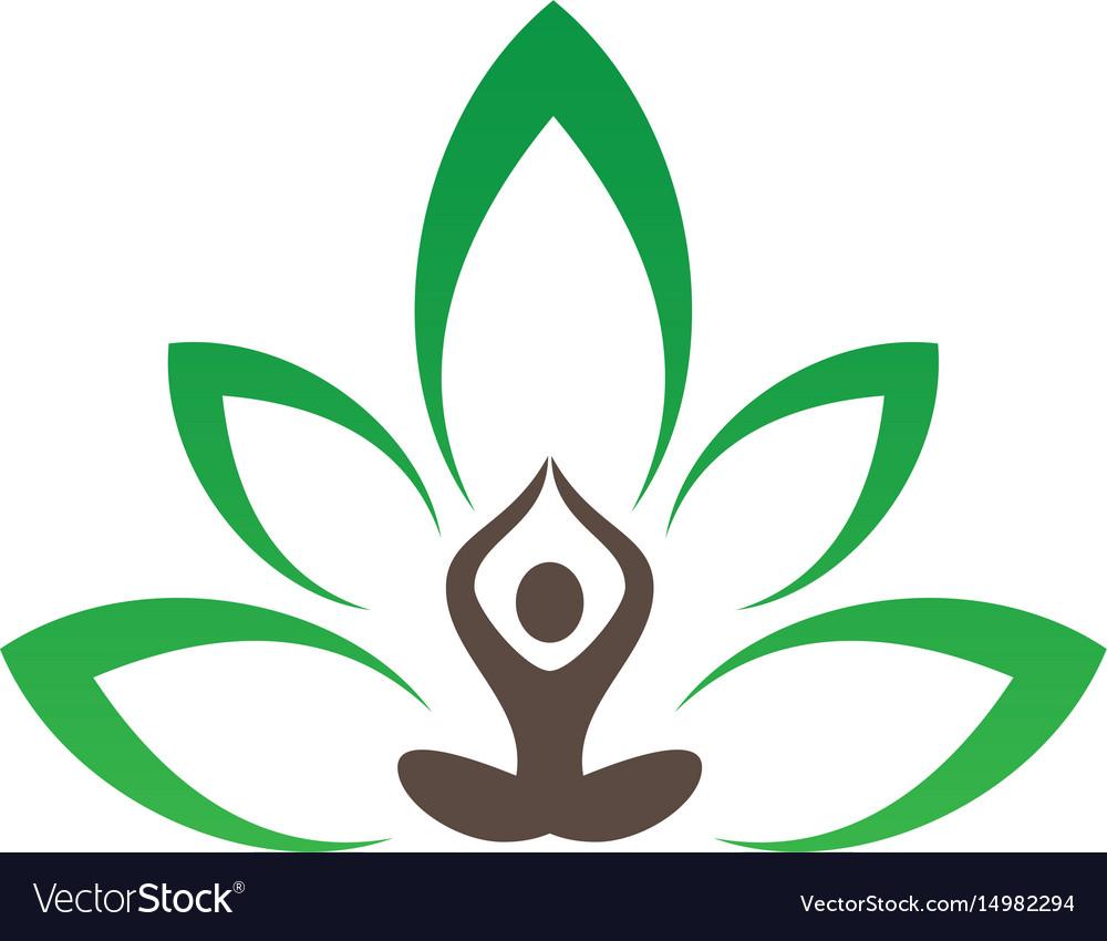 meditation or spa leaf logo image royalty free vector image