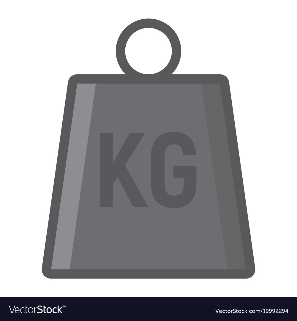 Weight symbol filled outline icon logistic