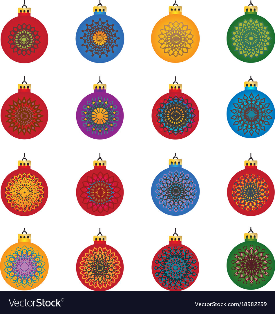 Color snowflakes in color background vector image