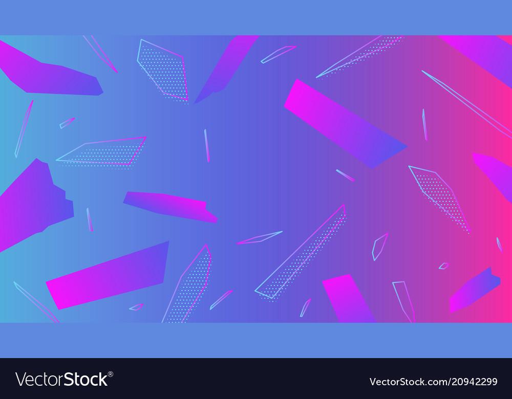Colorful geometric minimalictic background
