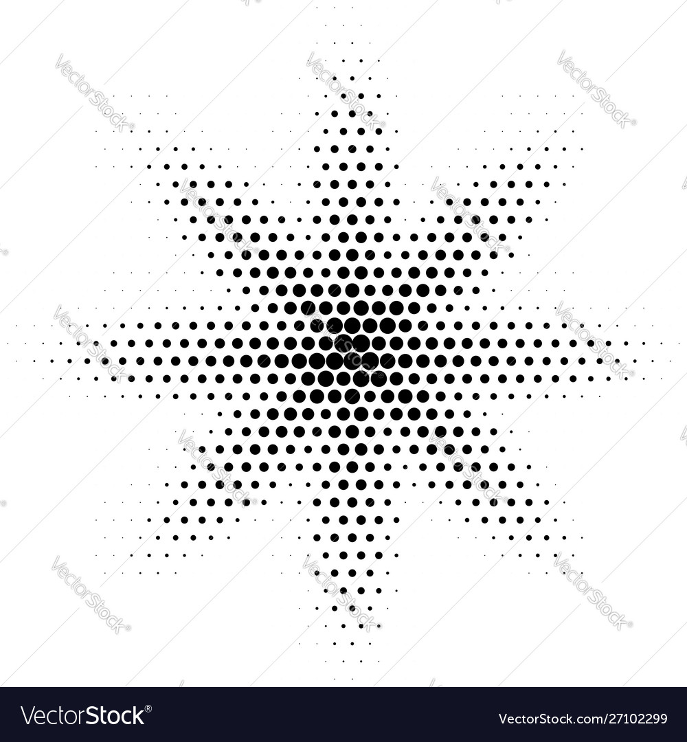 Halftone abstract spot dotted halftone