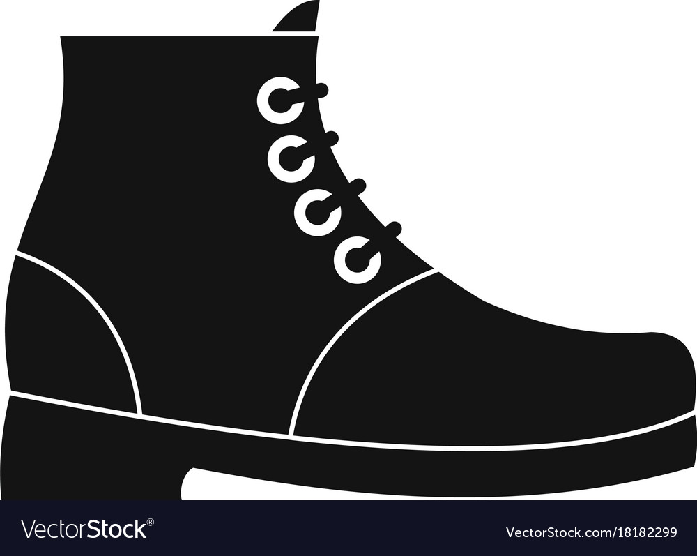 Hiking boots icon simple