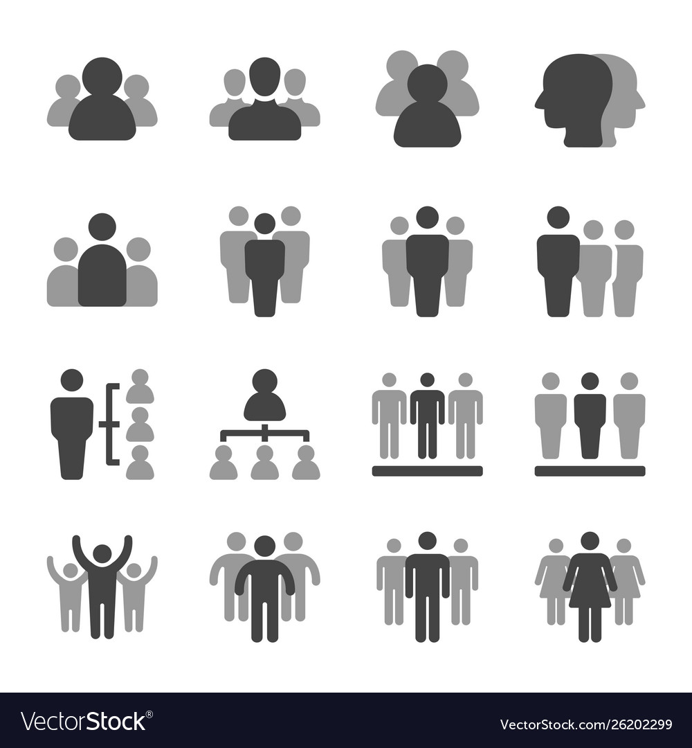 People and group icon set