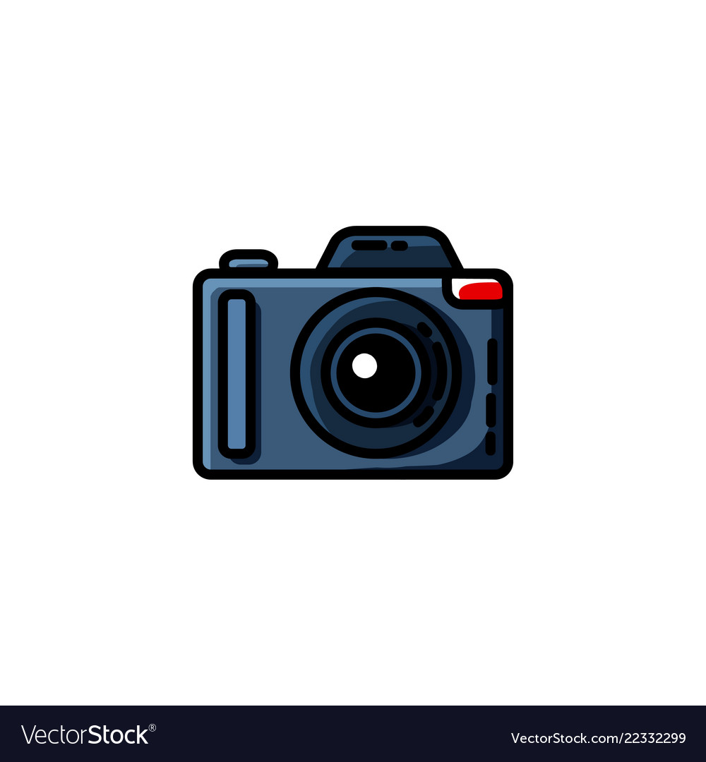 Photo camera in flat style