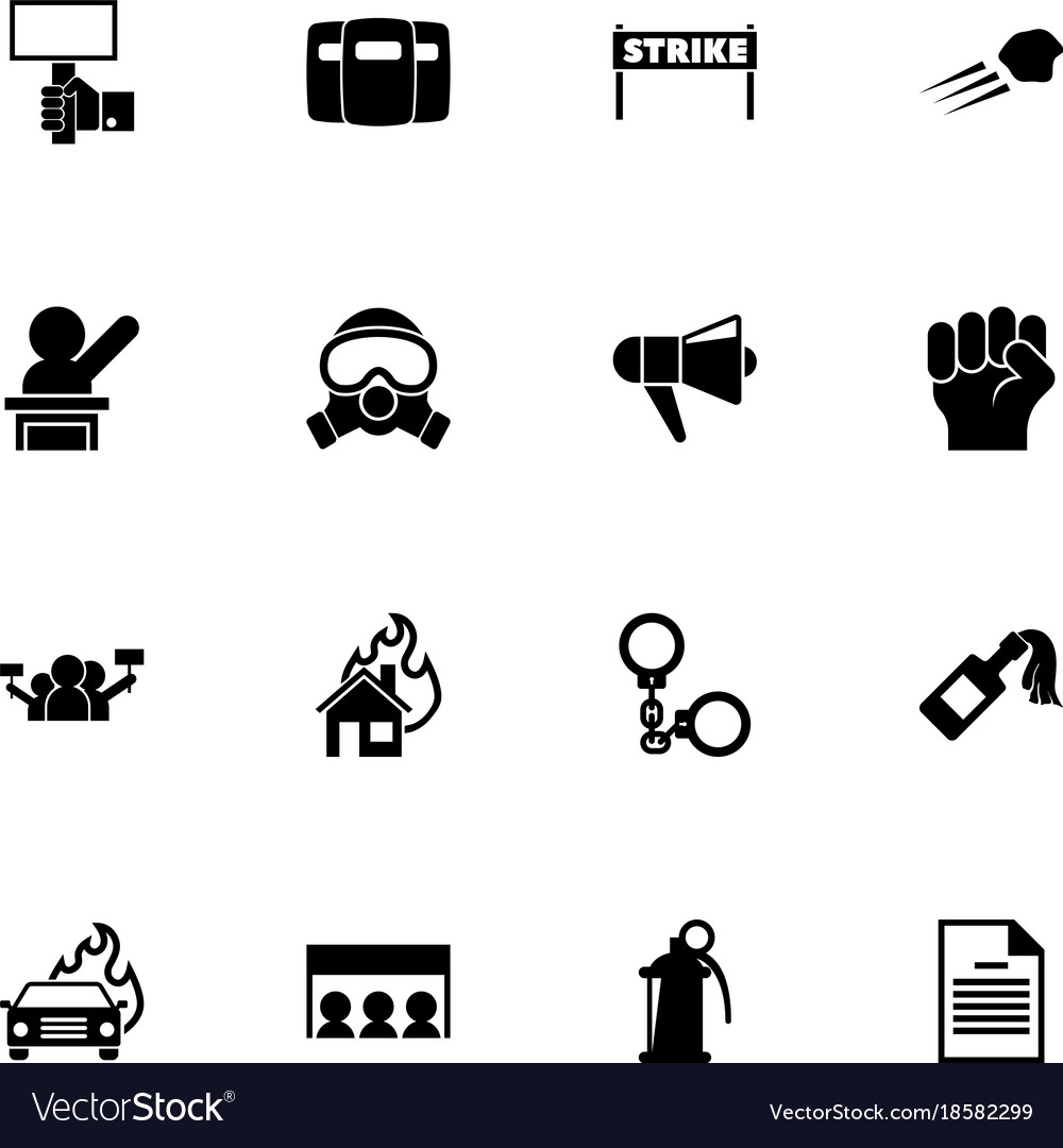 Protest - flat icons vector image