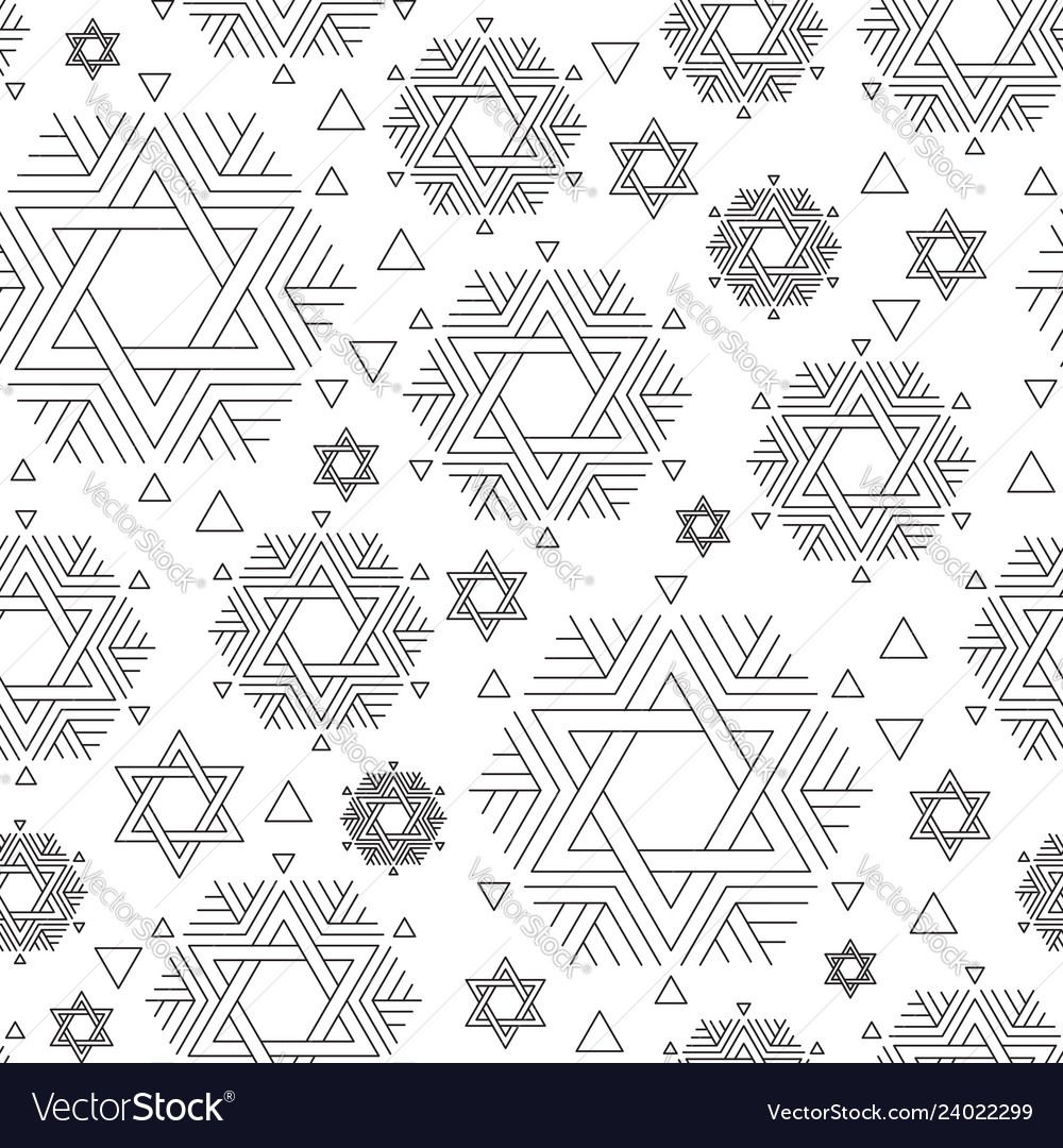Seamless repeat pattern with david star