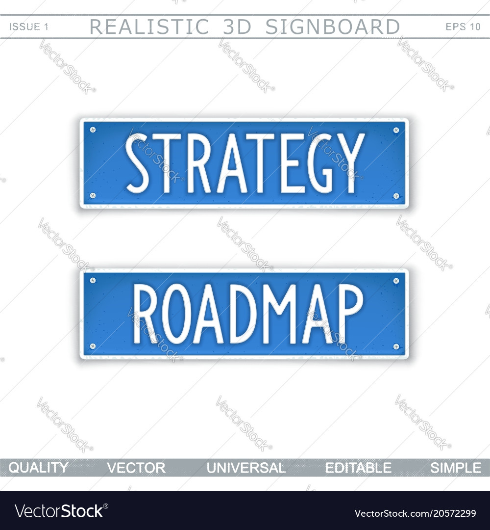 strategy roadmap design elements royalty free vector image