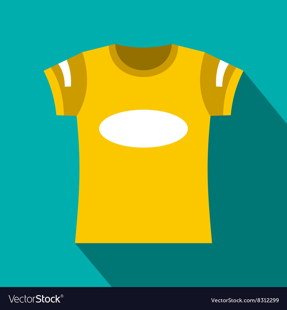 yellow t-shirt template icon flat style royalty free vector