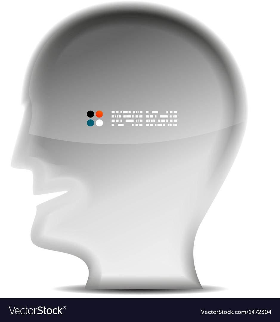 3d white head person concept