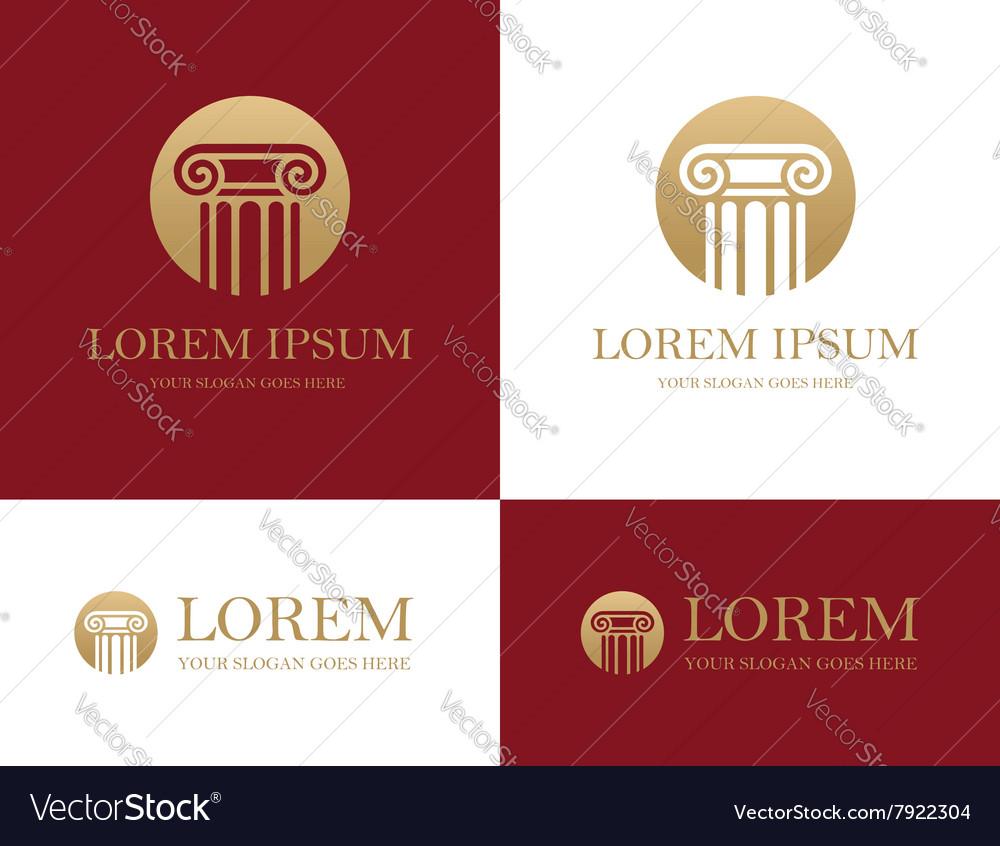 Column round logo vector image