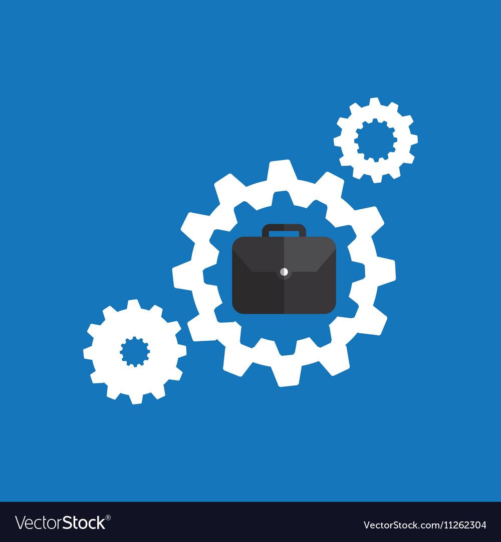 Concept business teamwork gear blue background