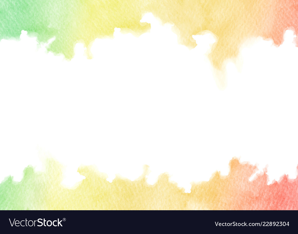 Hand painted rainbow watercolor texture frame
