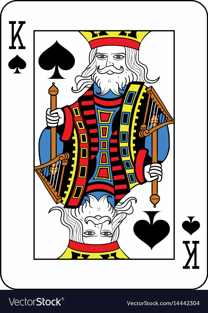 king of spade card  King of spades french version