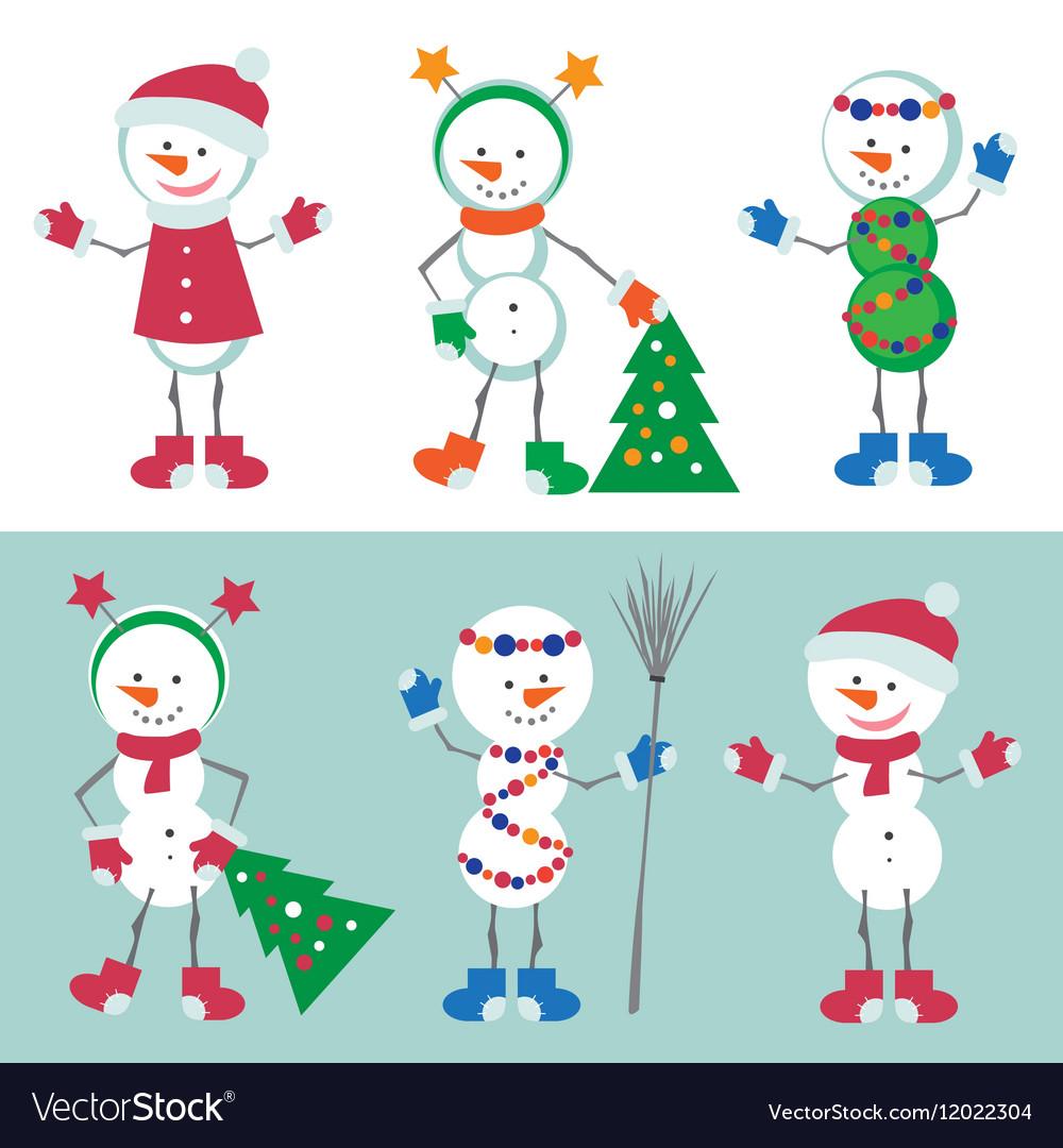 Set of Snowman Snow man