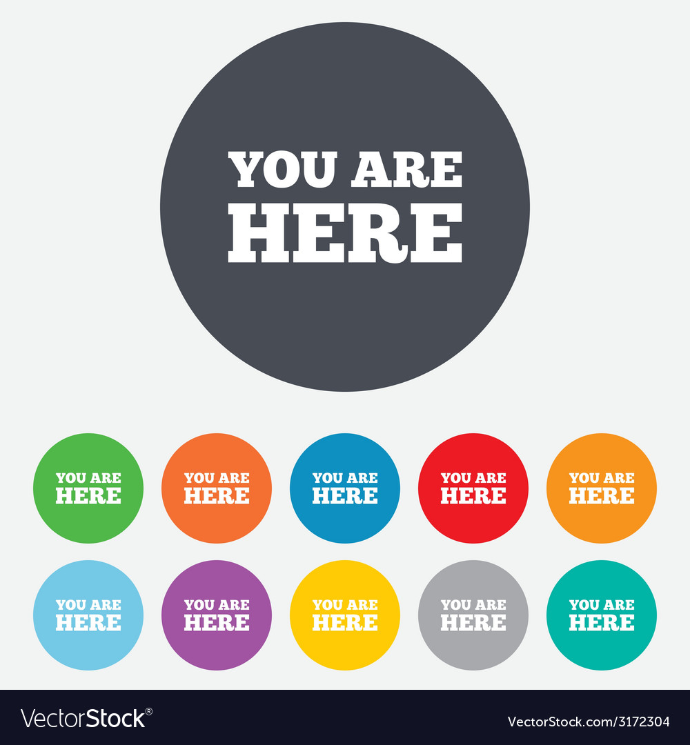 You Are Here Sign Icon Info Text Symbol Royalty Free Vector