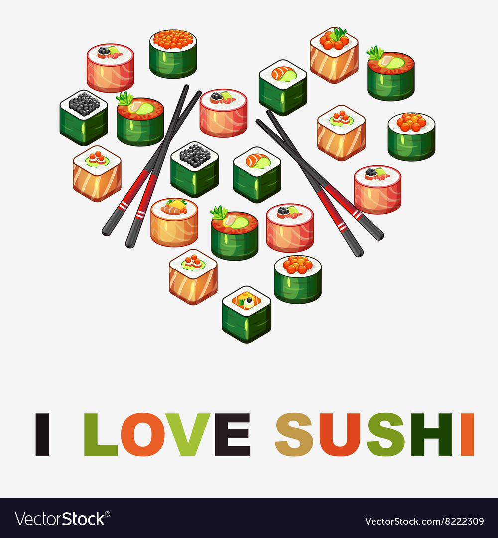 Background with sushi