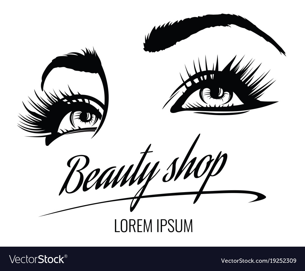 Beauty Salon Poster With Eyes Eyelashes Royalty Free Vector