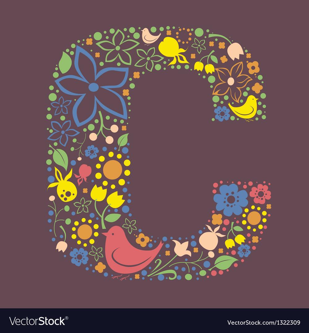 C letter color variant