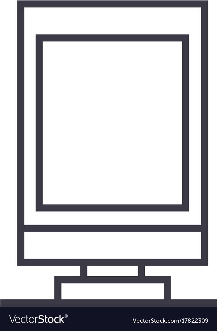 City billboard line icon sign vector image