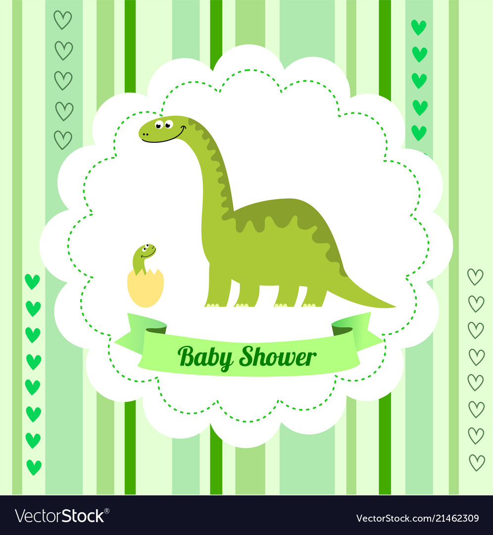 Cute card template of a baby shower invitation vector image filmwisefo