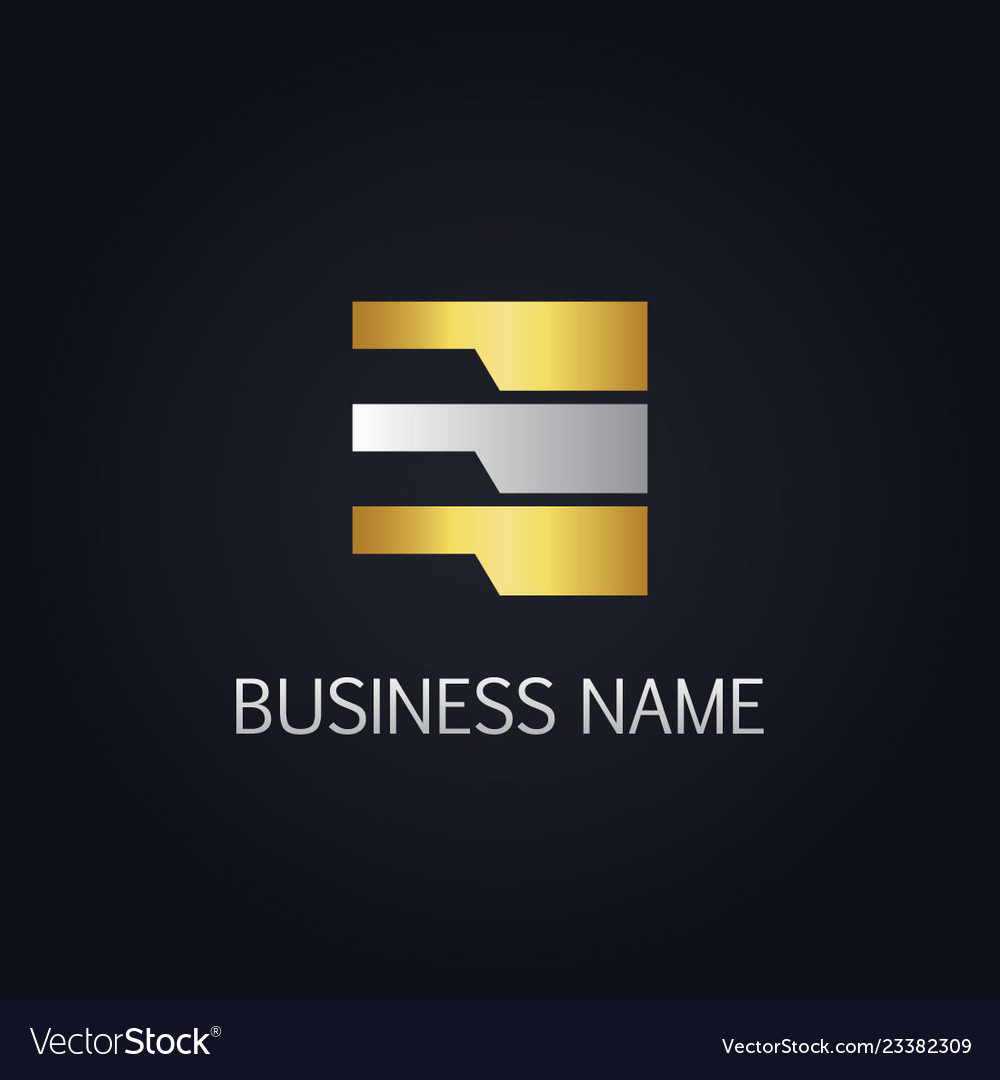 Gold data line abstract business logo