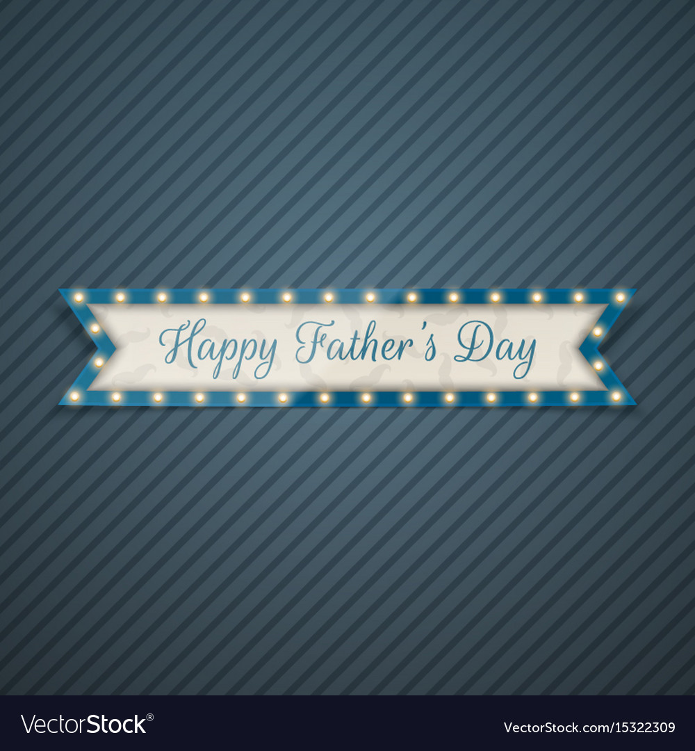 Happy fathers day greeting ribbon