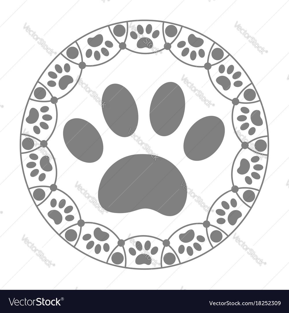 Paw print dog icon