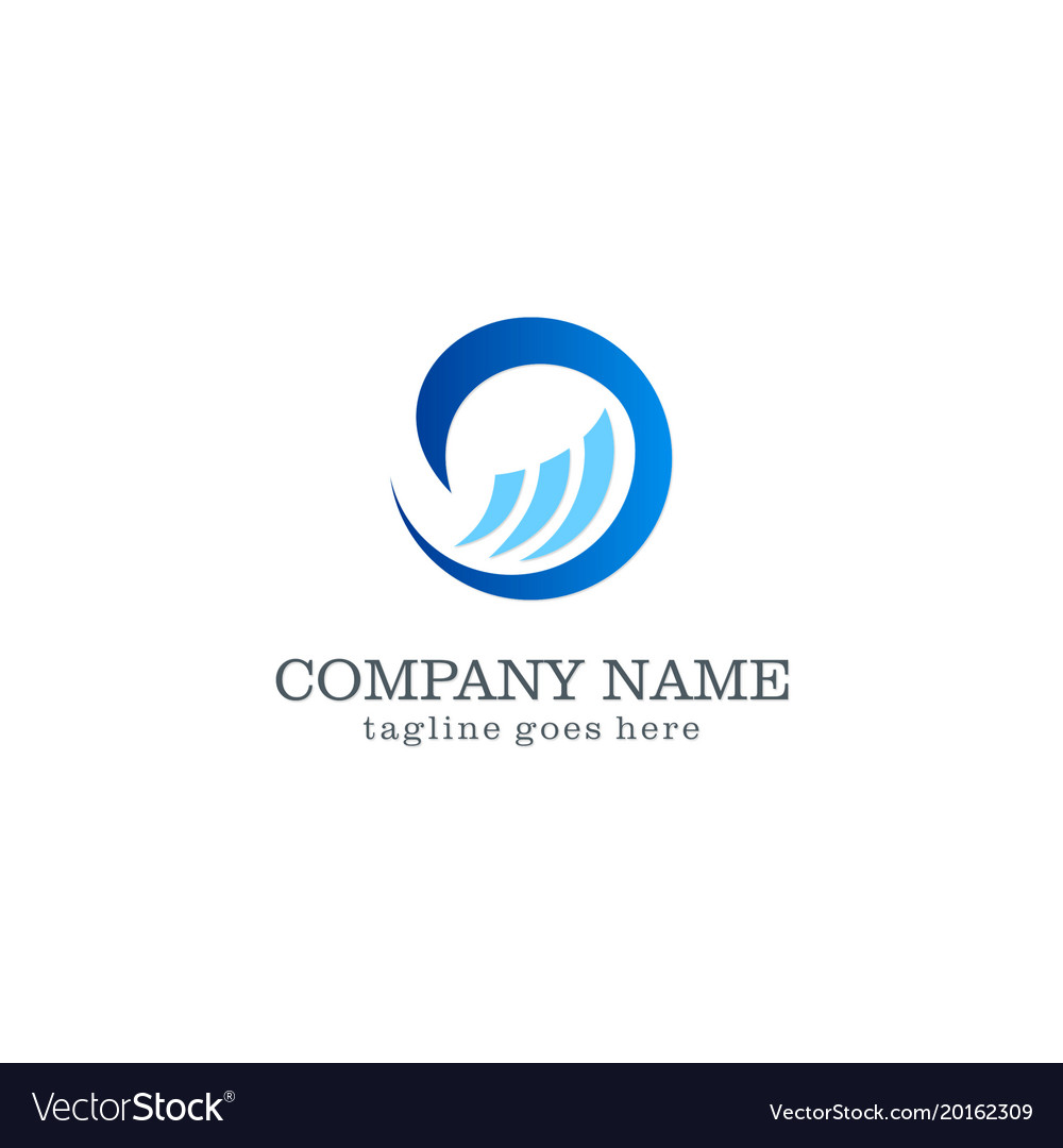 Wave water logo design