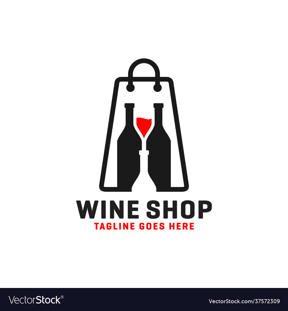 Wine or liquor store logo