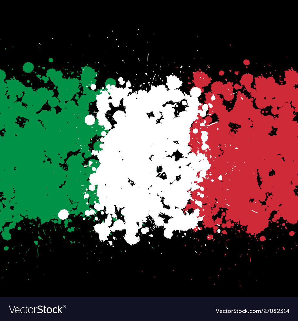 Grunge blots italy flag background