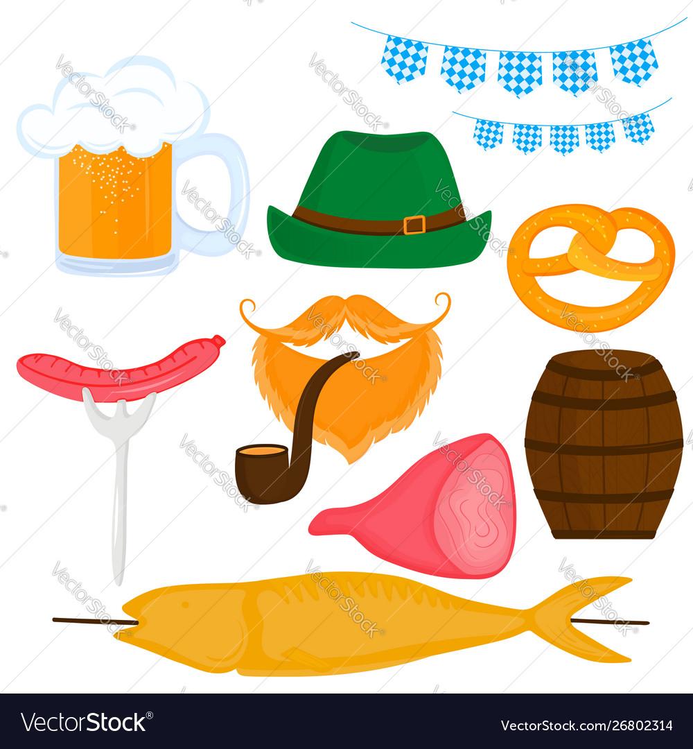 Oktoberfest german festival set a beer