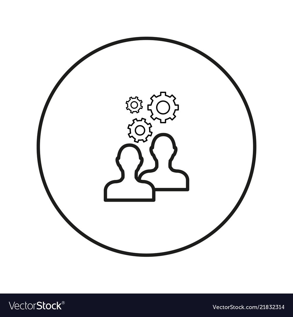 Work of people teamwork brainstorm icon