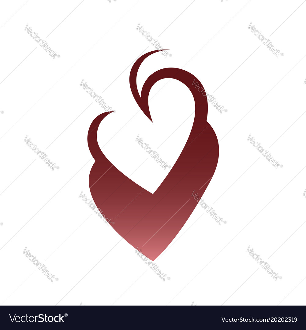 Abstract Heart Symbol Icon On White Royalty Free Vector